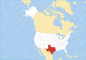 Map illustrating Texas in the US